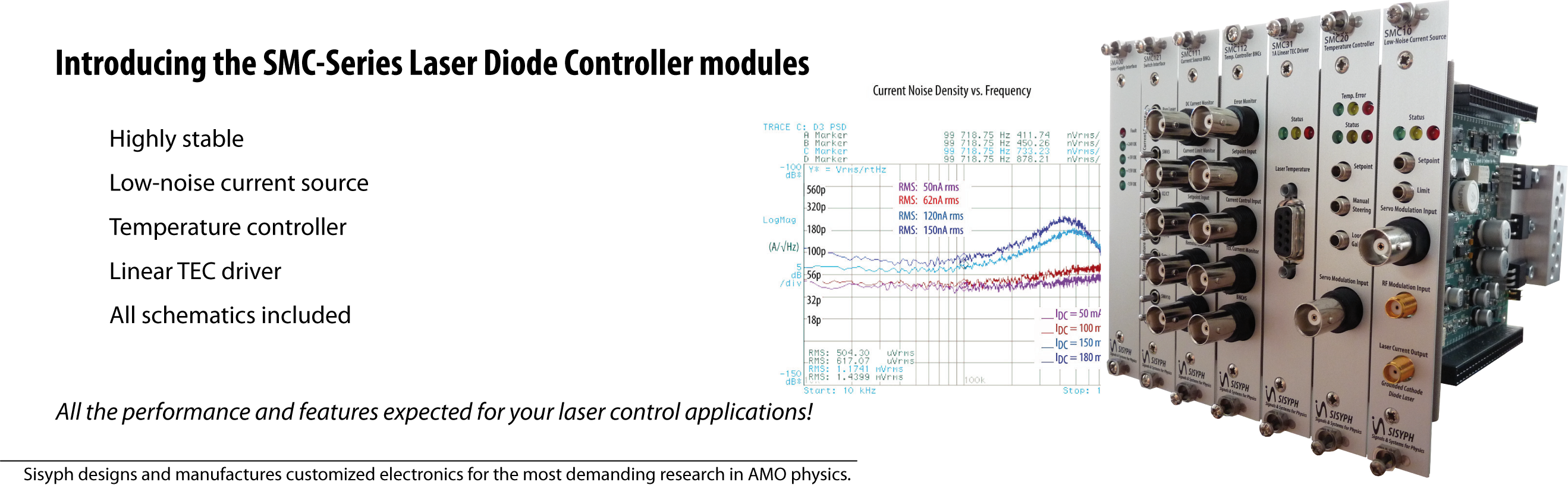 All the performance and features expected for your laser control applications!